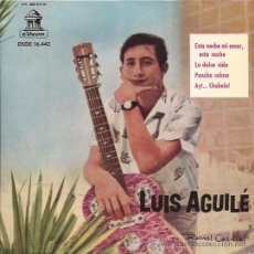 Discos de vinilo: EP-LUIS AGUILE-ODEON 16442-1962-PAUL ANKA COVER. Lote 31752322
