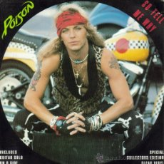 Discos de vinilo: POISON-SO TELL ME WHY + GUITAR SOLO SINGLE VINILO TRANSPARENTE 1991. Lote 31766416