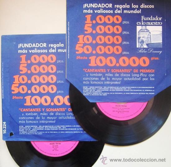 LOTE DE 2 EPS DE MARI TRINI - 1971 - DISCO SORPRESA FUNDADOR (Música - Discos de Vinilo - EPs - Grupos Españoles de los 70 y 80)