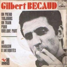 Discos de vinilo: TRES SENCILLOS FRANCESES DE GILBERT BECAUD. Lote 27271785