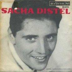 Discos de vinilo: TRES SENCILLOS DE SACHA DISTEL. Lote 27271786