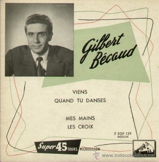 TRES EPS FRANCESES DE GILBERT BECAUD (Música - Discos de Vinilo - EPs - Canción Francesa e Italiana)