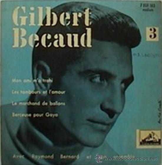 Discos de vinilo: Tres EPs franceses de Gilbert Becaud - Foto 2 - 31776458