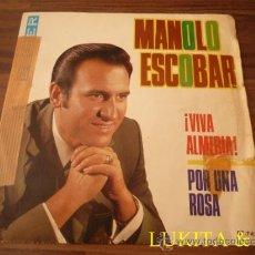 Discos de vinilo: MANOLO ESCOBAR - ¡VIVA ALMERÍA!. Lote 31812434
