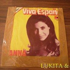 Discos de vinilo: HANNA ARONI - VIVA ESPAÑA. Lote 31812901