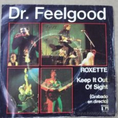 Discos de vinilo: DR. FEELGOOD: ROXETTE + KEEP IT OUT OF SIGHT (EN DIRECTO). Lote 31806327