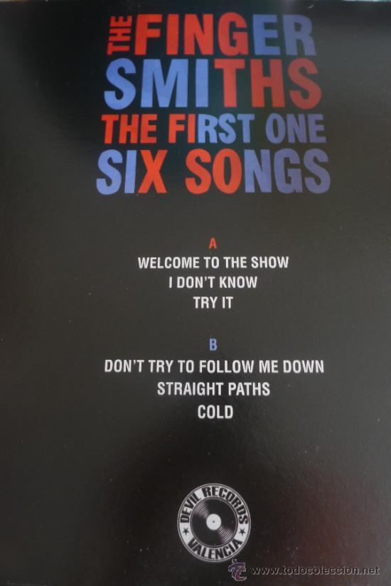 Discos de vinilo: The Fingersmiths The first one Six songs Mlp Devil Records Vinilo Rojo Solo 100 copias - Foto 3 - 31817311