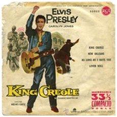 Discos de vinilo: ELVIS PRESLEY – KING CREOLE VOL. 2 (BSO) – EP SPAIN 1961 (1ª ED. 33 RPM) – RCA 33022. Lote 31826875