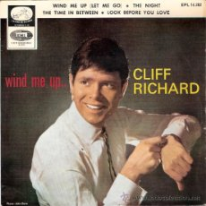 Discos de vinilo: CLIFF RICHARD - WIND ME UP + 3 (EP DE 4 CANCIONES) EMI 1966 - VG++/VG++. Lote 31828703