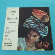 Discos de vinilo: DON STANLEY Y SU ORQUESTA. RITMO DE SAMBA. ZAFIRO. Lote 31829215