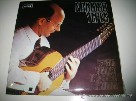 NARCISO YEPES LEYENDA / RUMORES DE LA CALETA / ALBORADA (1960 DECCA) COMO NUEVO (Música - Discos de Vinilo - EPs - Flamenco, Canción española y Cuplé)