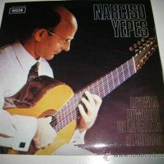 Discos de vinilo: NARCISO YEPES LEYENDA / RUMORES DE LA CALETA / ALBORADA (1960 DECCA) COMO NUEVO. Lote 31922369