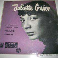 Discos de vinilo: JULIETTE GRECO LA NOVIA DEL PIRATA EP (196? PHILIPS ESPAÑA). Lote 31922419