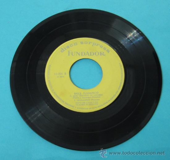 Discos de vinilo: GOYO DE CÁDIZ Y SU CUADRO FLAMENCO: QUE VENIMOS DE LINARES. SEVILLANAS. LA CAÑA. DISCO SORPRESA - Foto 2 - 31838730
