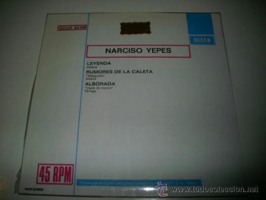 Discos de vinilo: NARCISO YEPES Leyenda / Rumores de la caleta / Alborada (1960 DECCA) COMO NUEVO - Foto 2 - 31922369