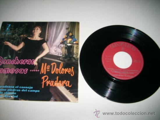 Discos de vinilo: MARIA DOLORES PRADERA Rancheras famosas EP (1960 ZAFIRO) - Foto 3 - 31921771