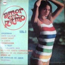 Discos de vinilo: LP DE ARTISTAS VARIOS AMOR CON RITMO VOLUMEN 5 AÑO 1980. Lote 26459568