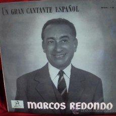 Discos de vinilo: MARCOS REDONDO. UN GRAN CANTANTE ESPAÑOL. Lote 31847696