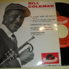Discos de vinilo: BILL COLEMAN -EP- HEY YOU WITH THE CRAZY EYES + 3 - FRENCH ED. Lote 31853003