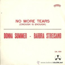 Discos de vinilo: BARBRA STREISAND / DONNA SUMMER SINGLE SELLO DURIUM EDICCIÓN ITALIANA AÑO 1979 . Lote 31866353