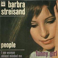 Discos de vinilo: BARBRA STREISAND EP SELLO CBS EDICCIÓN FRANCESA . Lote 31866473