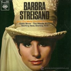 Discos de vinilo: BARBRA STREISAND EP SELLO CBS EDICCIÓN ALEMANA. Lote 31866508