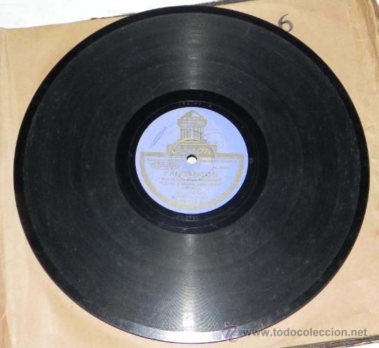 Discos de vinilo: ANTIGUO DISCO DE PIZARRA, FANDANGOS, POR EL GUERRITA, FLAMENCO, ACOMPAÑADO POR EL GUITARRA MANOLO DE - Foto 2 - 31871655