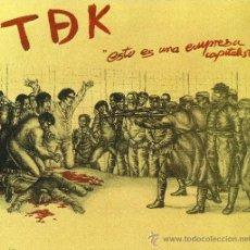 Discos de vinilo: T DE K . ESTO NO ES UNA EMPRESA CAPITALISTA (MINI LP 1985). Lote 31882747