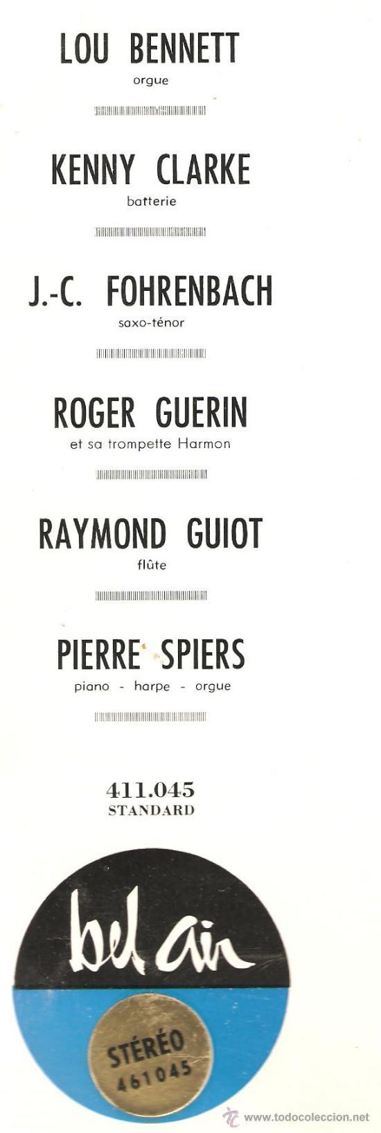 Discos de vinilo: LP MELODIES SUR L´OREILLES (MELODIC JAZZ) - LOU BENNETT, KENNY CLARK, ROGER GUERIN, PIERRE SPIERS - Foto 2 - 31883193