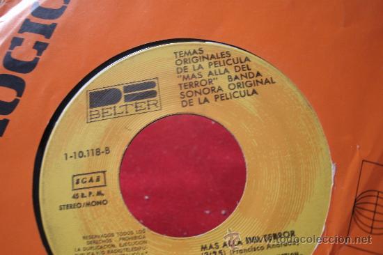 Discos de vinilo: SINGLE ORIGINAL DE MAS ALLÁ DEL TERROR - TOMAS AZNAR - B.S.O. - Foto 3 - 31900432