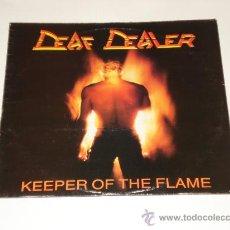 Discos de vinilo: DEAF DEALER / KEEPER OF THE FLAME - LP MADE IN ENGLAND 1986 - TOTALMENTE NUEVO A ESTRENAR!!!!. Lote 31904041