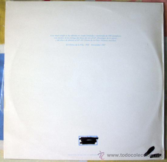 Discos de vinilo: EL ULTIMO DE LA FILA - MX- EL LOCO DE LA CALLE - EDICION NUMERADA PROMO VINILO TRANSPARENTE - 1987 - Foto 2 - 31920107