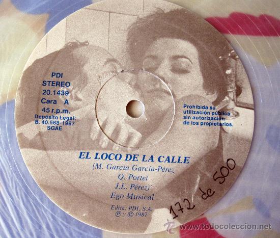 Discos de vinilo: EL ULTIMO DE LA FILA - MX- EL LOCO DE LA CALLE - EDICION NUMERADA PROMO VINILO TRANSPARENTE - 1987 - Foto 3 - 31920107