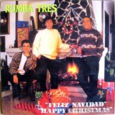 Discos de vinilo: RUMBA TRES - FELIZ NAVIDAD / HAPPY CHRISTMAS - LP KONGA MUSIC 1988 BPY. Lote 31928299