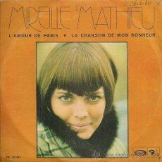 Discos de vinilo: MIREILLE MATHIEU SINGLE SELLO MOVIEPLAY AÑO 1970 EDITADO EN ESPAÑA. Lote 31934548
