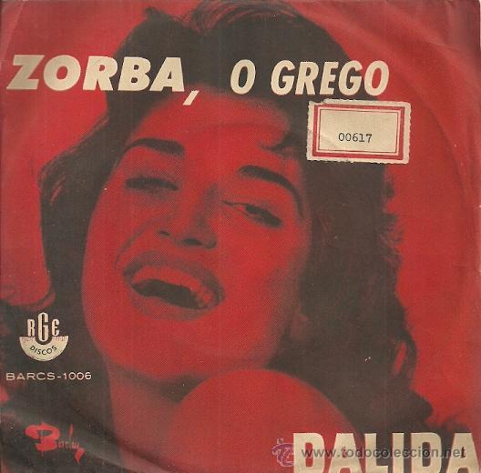 DALIDA SINGLE SELLO RGE EDICCIÓN BRASILEÑA (Música - Discos - Singles Vinilo - Canción Francesa e Italiana)