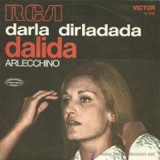 Discos de vinilo: DALIDA SINGLE SELLO RCA VICTOR EDICCIÓN ITALIANA. Lote 31935069