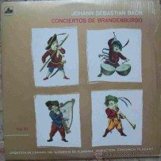 Discos de vinilo: DISCOS (J.SEBASTIAN BACH) CONCIERTOS DE BRANDENBURGO. Lote 31945602