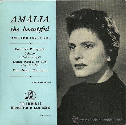 AMALIA RODRIGUES EP SELLO COLUMBIA EDICCIÓN HOLANDESA (Música - Discos de Vinilo - EPs - Étnicas y Músicas del Mundo)