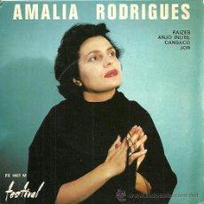 Discos de vinilo: AMALIA RODRIGUES EP SELLO FESTIVAL EDICCIÓN FRANCESA. Lote 31962942