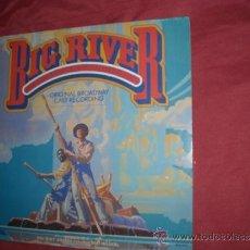 Discos de vinilo: BIG RIVER: THE ADVENTURES OF HUCKLEBERRY FINN (1985 ORIGINAL BROADWAY CAST) LP CON ENCARTE ORIGINAL. Lote 31989938