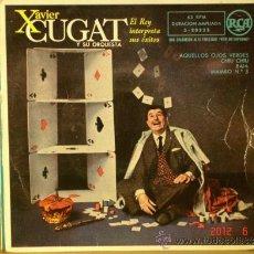Discos de vinilo: XAVIER CUGAT Y SU ORQUESTA - EL REY INTERPRETA SUS EXITOS - RCA 3-20223 - 1959 - RARO. Lote 32007266