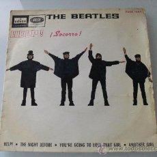 Discos de vinilo: THE BEATLES - HELP! + 3 EP 1965. Lote 32009879