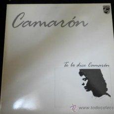 Discos de vinilo: CAMARON LP TE LO DICE CAMARON 1986 INCLUYE LETRAS. Lote 32013747