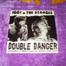 Discos de vinilo: IGGY POP AND THE STOOGES DOUBLE DANGER. Lote 32021713