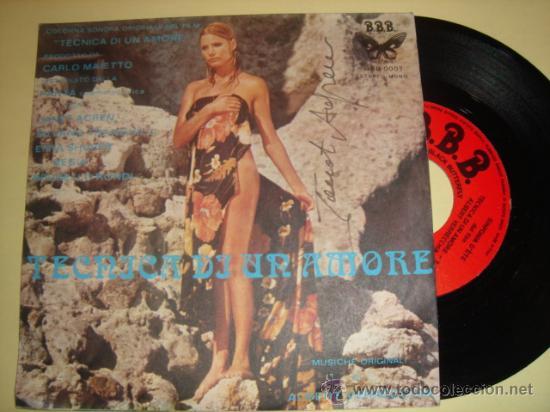 ALBERT VERRECCHIA-TEC?NICA DI UN AMORE-ITALIAN 45RPM 1973-SOUNDTRAC?K-SEXY COVER (Música - Discos - Singles Vinilo - Bandas Sonoras y Actores)