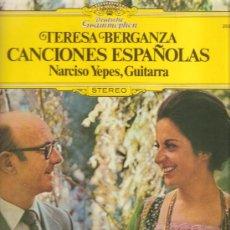 Discos de vinilo: LP TERESA BERGANZA - CANCIONES ESPAÑOLAS (NARCISO YEPES, GUITARRA). Lote 32049080