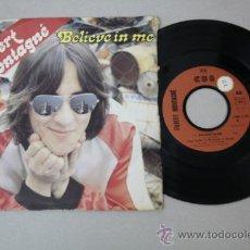 Discos de vinilo: SINGLE DE GILBERT MONTAGNÉ - BELIVE IN ME, EDITADO POR CBS 1980 . Lote 32054029