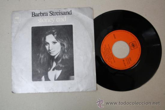 SINGLE DE BARBARA STREISAND - STONEY END, EDITADO POR CBS 1970 (Música - Discos - Singles Vinilo - Pop - Rock - Extranjero de los 70)