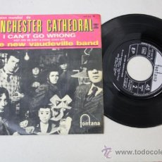 Discos de vinilo: SINGLE: WINCHESTER CATHEDRAL, POR THE NEW VAUDEVILLE BAND, ED. FONTANA 1966. Lote 32057404